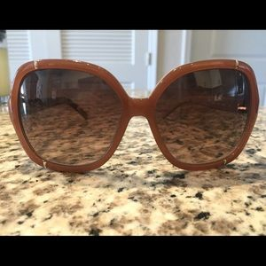 Chloe Tan Oversized Sunglasses - great condition